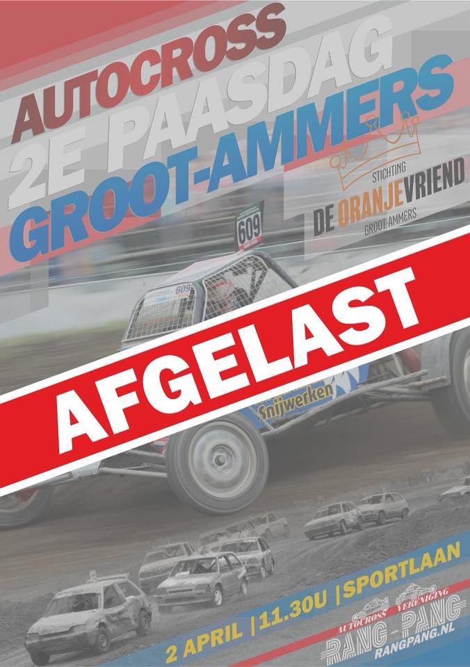 Autocross 2018 afgelast!